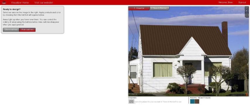 Home visualizer metal roofs niagara for House visualizer